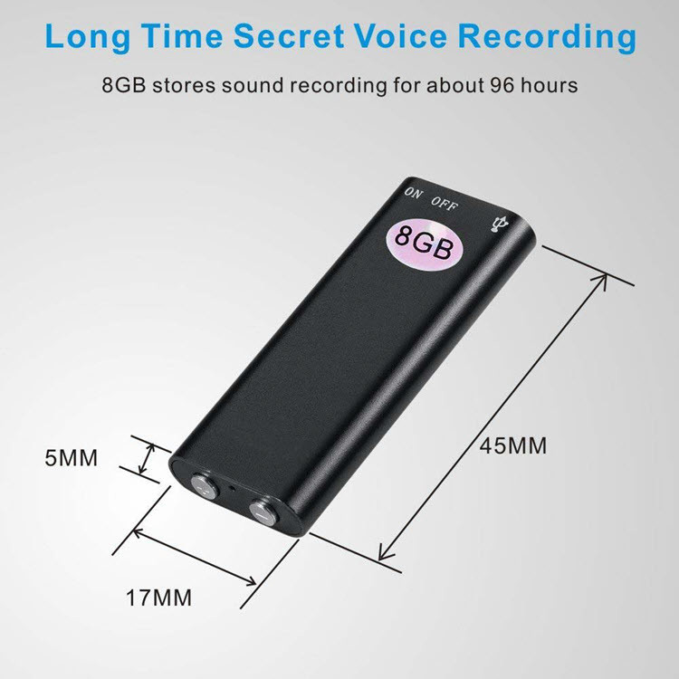 Mini Spy USB Audio Voice Recorder & MP3 Player Flash Drive - 2
