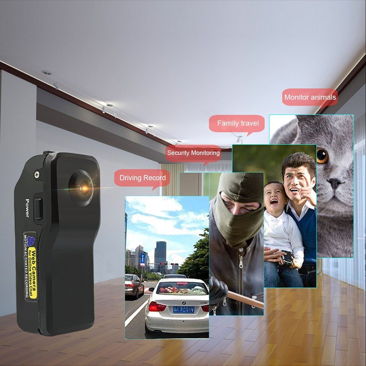 Mini spy camera 960P HD Camera with Motion Detection - Application