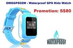 OMGGPS02W - GPS Tracker Watch for Kids (Waterproof IP67) 250x