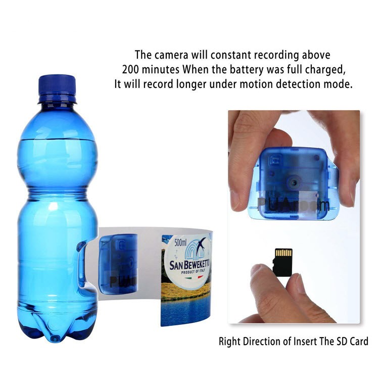 Portable Real Water Bottle Hidden Spy Camera - 2