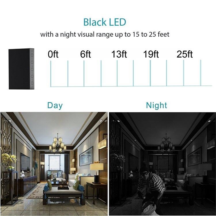 SPY04 - Hidden Spy Book Camera - Black Led