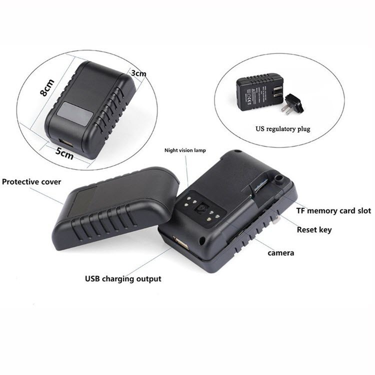 Wifi Spy Hidden Power Adapter USB Wall Charger - 4