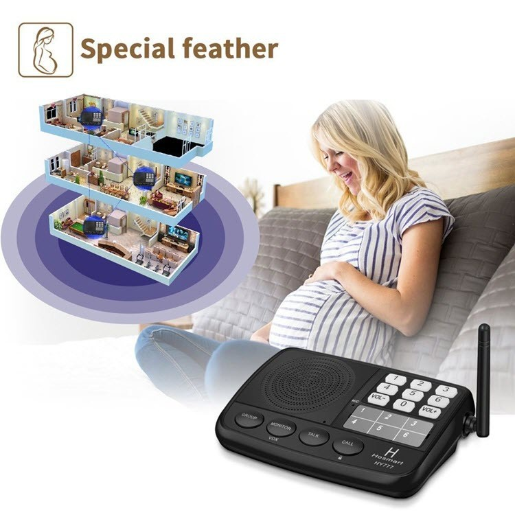 Digital FM Wireless Intercom System for Home and Office (3 Stations) - 3