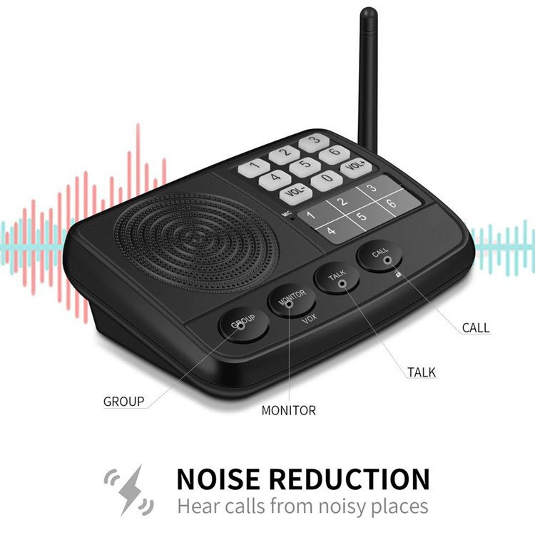 Digital FM Wireless Intercom System for Home and Office (3 Stations) - 6