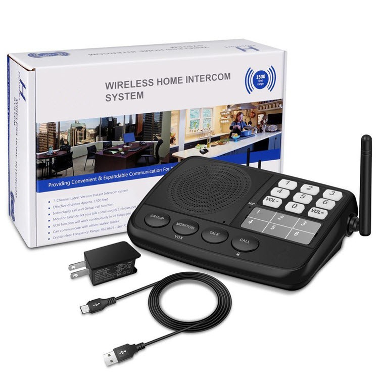 Digital FM Wireless Intercom System for Home and Office (3 Stations) - 7