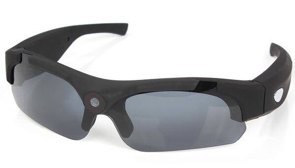 Fashion Sports Video Camera Sunglasses Spy with 120 degree wide angle lens - 1