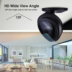 Mini WiFi Wireless Security IP Camera, Night Vision, 2 Way Audio, Motion Detection - 1 250px