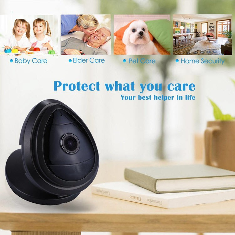 Mini WiFi Wireless Security IP Camera, Night Vision, 2 Way Audio, Motion Detection - 6