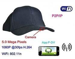 SPY055 - WIFI Hat Camera Video Recorder, 1080p, 5.0 Mega Pixels,H.264,P2PIP - 1 250px