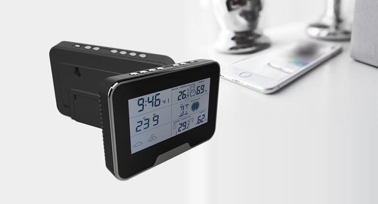 SPY062 - WIFI HD 1080P varnostna kamera vremenske postaje, podpora SD kartica 64GB - 2