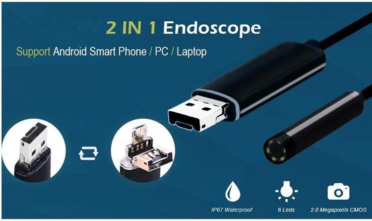 USB Borescope, Endoscope Inspection, HD Waterproof Snake Camera - 8