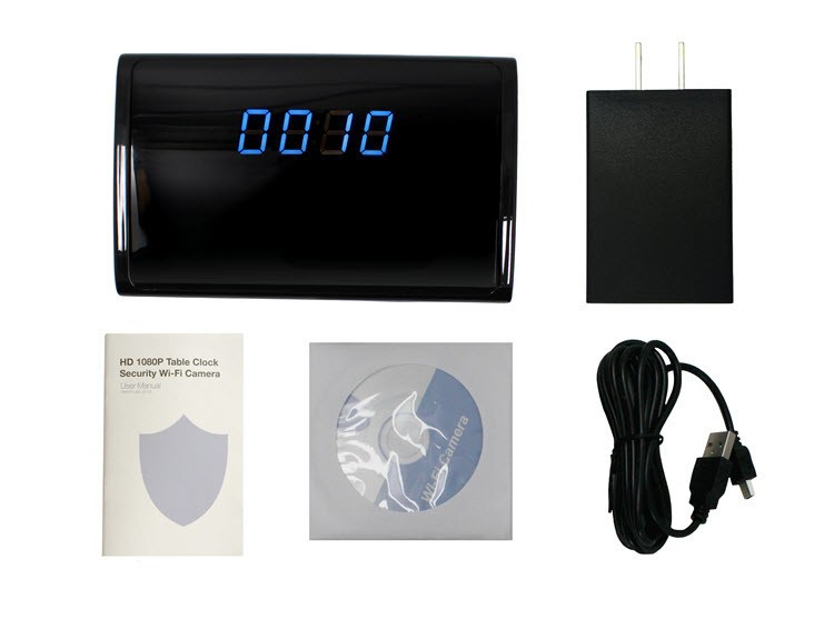 WIFI HD 1080P Table Clock Security Camera, Support SD Card 128GB - 10