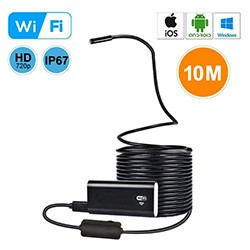 WiFi USB Endoscope, Semi-rigid USB Inspection Camera for Android iOS Tablet - 10M - 1 250px