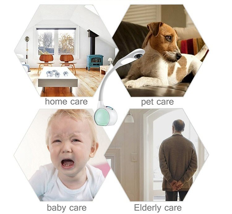 Wifi Desk, Table Lamp Camera - Remote Viewing - For Children or Baby Monitoring - 9