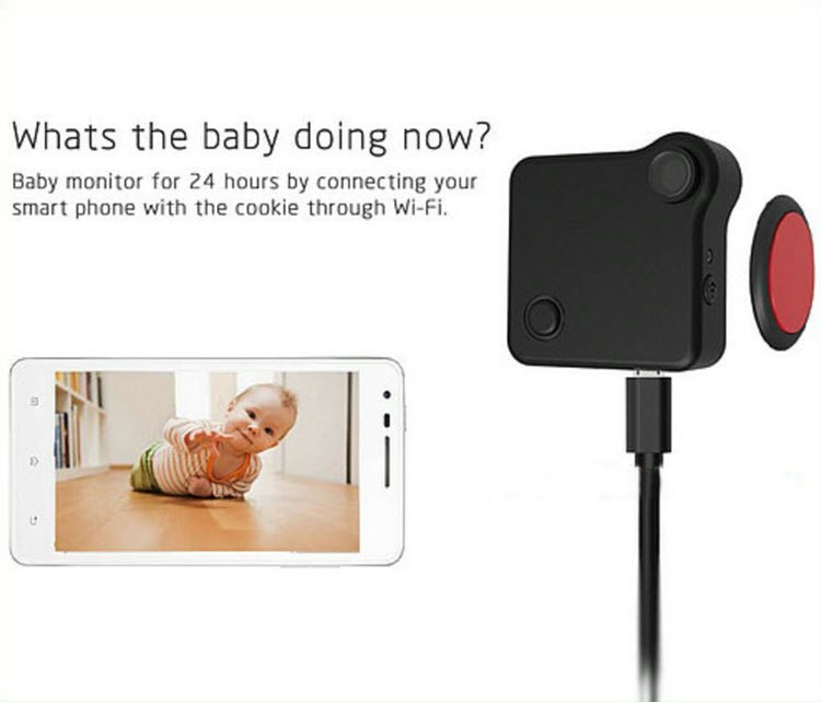 WIFI Mini Wearable Camera, HD 1280x720P, H.264, Motion Detection - 5