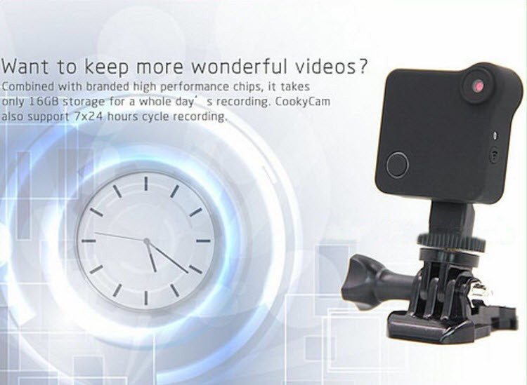 WIFI Mini Wearable Camera, HD 1280x720P, H.264, Motion Detection - 6