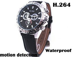 Watch Camera, 1280 x 720P, H.264 Video Format, Motion Detection, 8GB - 1 250px