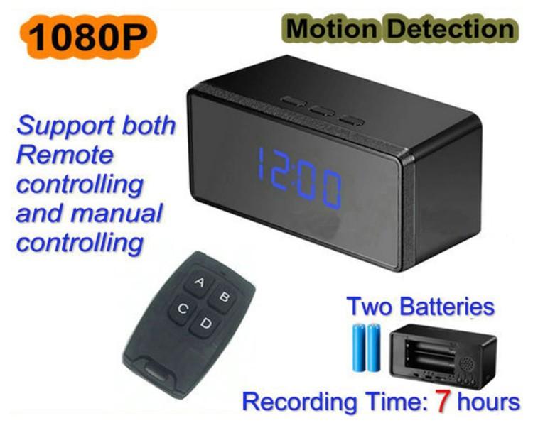 New Clock Camera, 1080p, 2 Batteries, 7 Hours - 1