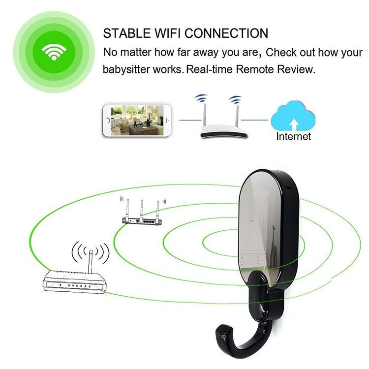WIFI Hook Camera DVR, HD1080P, Night Vision, Motion Detection - 5