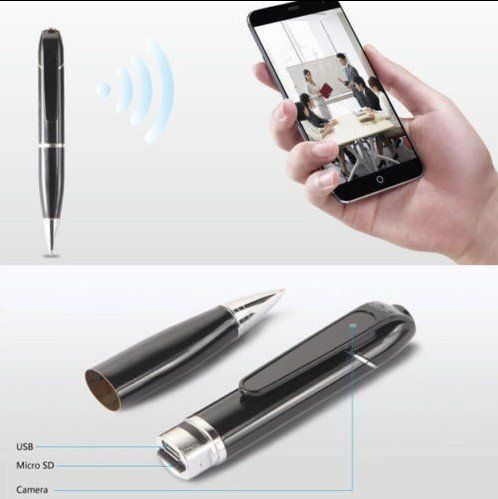 WiFi Spy Pen Hidden Kāmele - 7