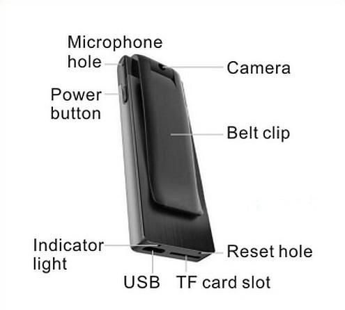 Digital Voice&Video Recorder, Video 1080p, Voice 512kbps,180 Deg Rotation - 8