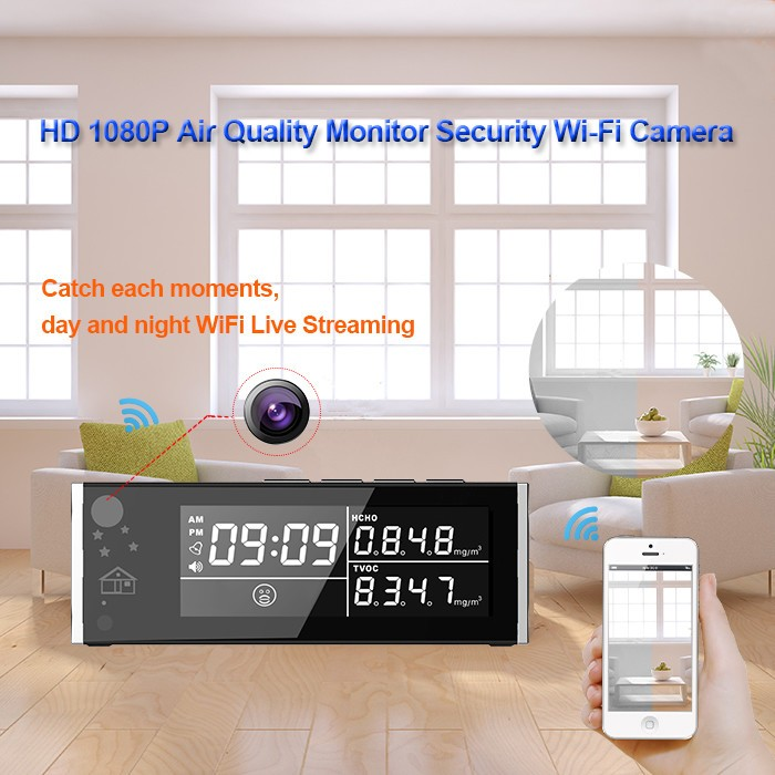 HD 1080P Air Quality Monitor Security Wi-Fi Camera - 3