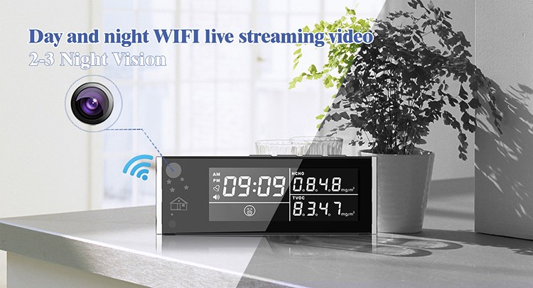 HD 1080P Air Quality Monitor Security Wi-Fi Camera - 5