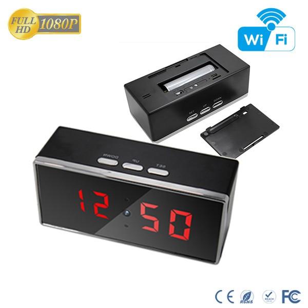 HD 1080P IR Desk Clock Wifi Camera - 5