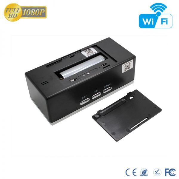 HD 1080P IR Desk Clock Wifi Camera - 8