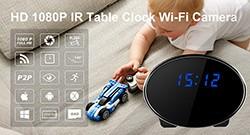 HD 1080P IR Table Clock Wi-Fi Camera - 1 250px