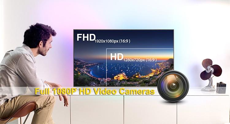 HD 1080P IR Table Clock Wi-Fi Camera - 6