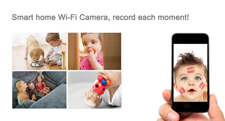 HD 1080P IR Table Clock Wi-Fi Camera - 7
