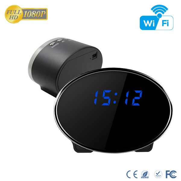 HD 1080P IR Table Clock Wi-Fi Camera - 8