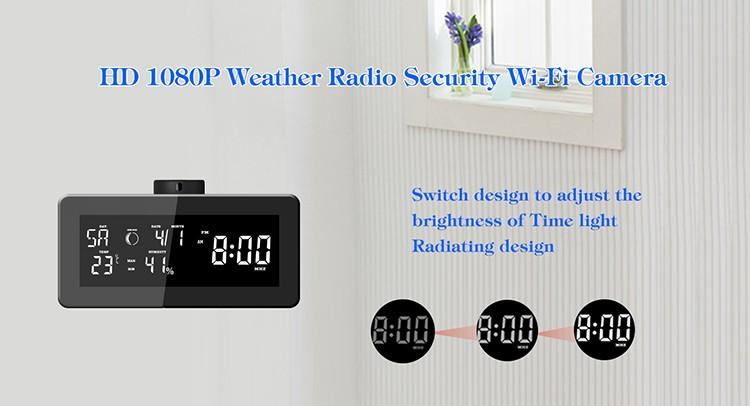 HD 1080P Weather Radio Security Wi-Fi Camera - 2