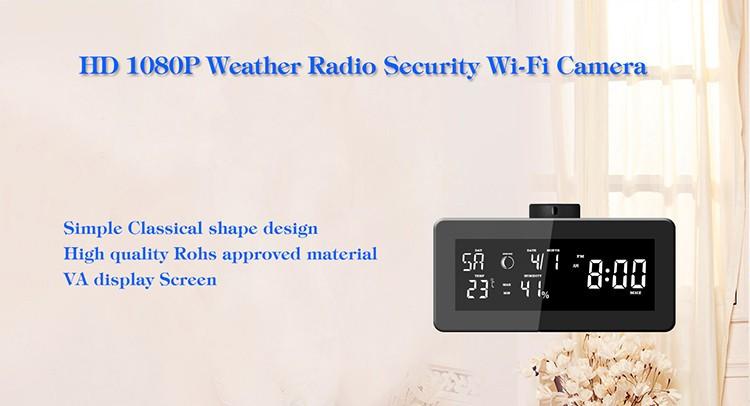 HD 1080P Weather Radio Varnost Wi-Fi kamera - 3