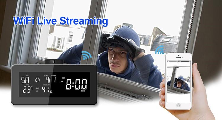 HD 1080P Weather Radio Varnost Wi-Fi kamera - 5