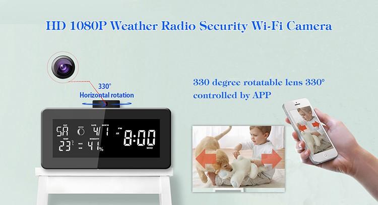 HD 1080P Weather Radio Varnost Wi-Fi kamera - 8