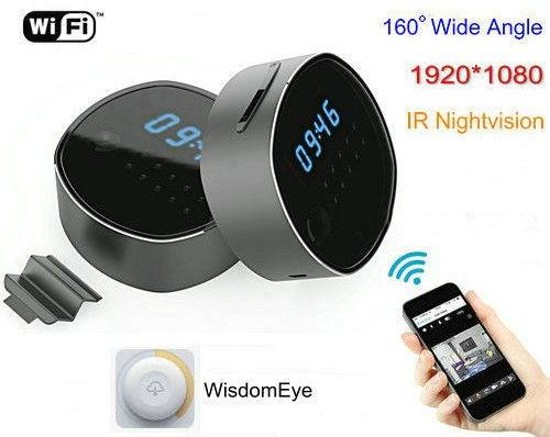 WIFI Clock Camera, HD1080P, H.264, Support SD Card 64GB, Nightvision - 1