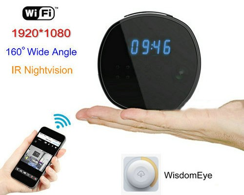 WIFI Clock Camera, HD1080P, H.264, Podpora SD kartica 64GB, Nightvision - 2