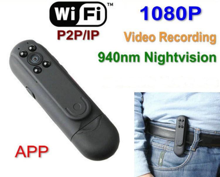 WIFI Pen Camera DVR, P2P, IP, 1080P Video recorder, App Control (SPY086)