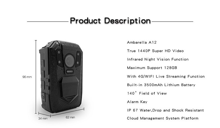 3G,4G Wireless Body Camera - 2