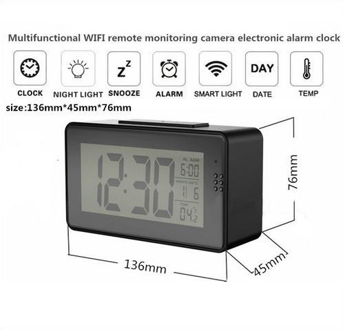 Alarm Clock Camera (Wifi) , Night vision, Motion Detection - 7