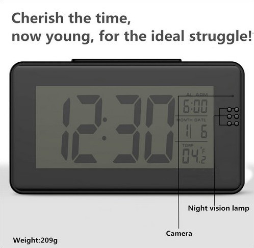 Alarm Clock Camera (Wifi) , Night vision, Motion Detection - 8