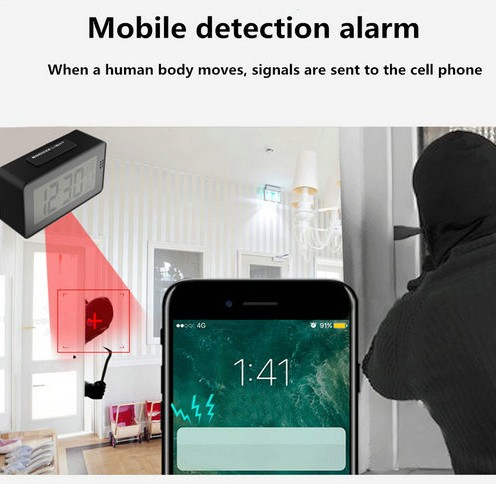 Alarm Clock Camera (Wifi) , Night vision, Motion Detection - 9