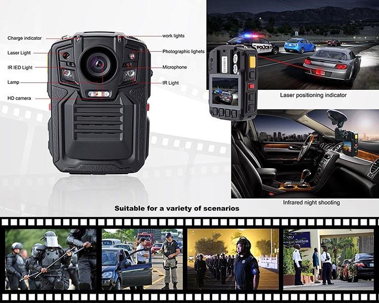 Removable Battery GPS Body Worn Police Camera (170deg) - 2