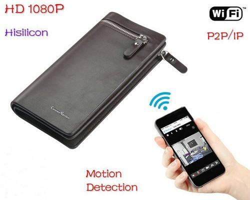 WIFI Bag Camera DVR, HD1080P, H.264, Motion Detection - 1