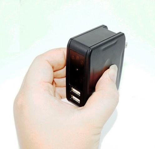 Wall Charger Camera DVR, 1080P,Plug & Record, Automatic IR Night Vision - 7