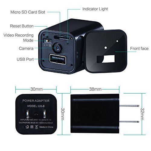 1080P HD USB Wall AC Plug Charger - 2