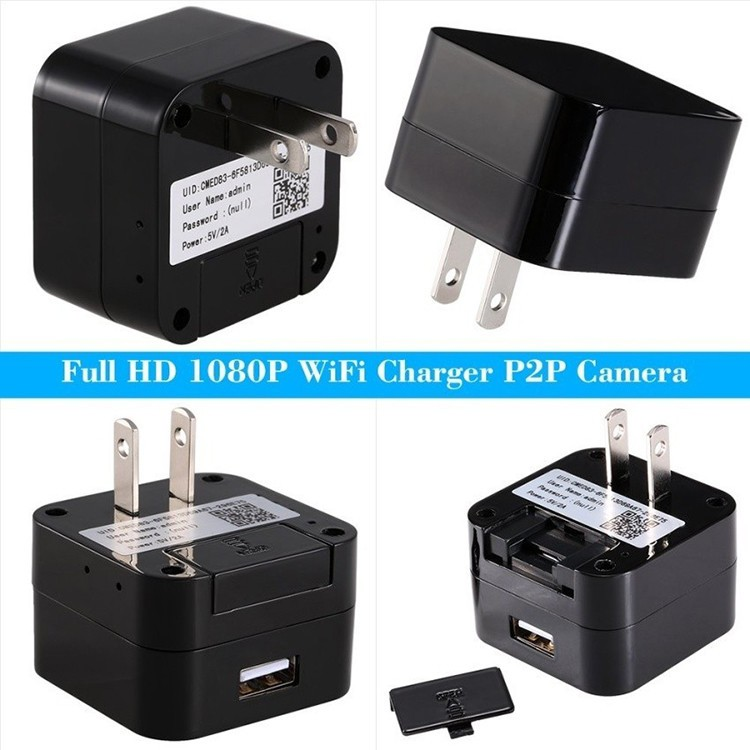 HD WIFI Charger Camera, 5.0M Camera 1080p, WIFI, P2PIP - 3