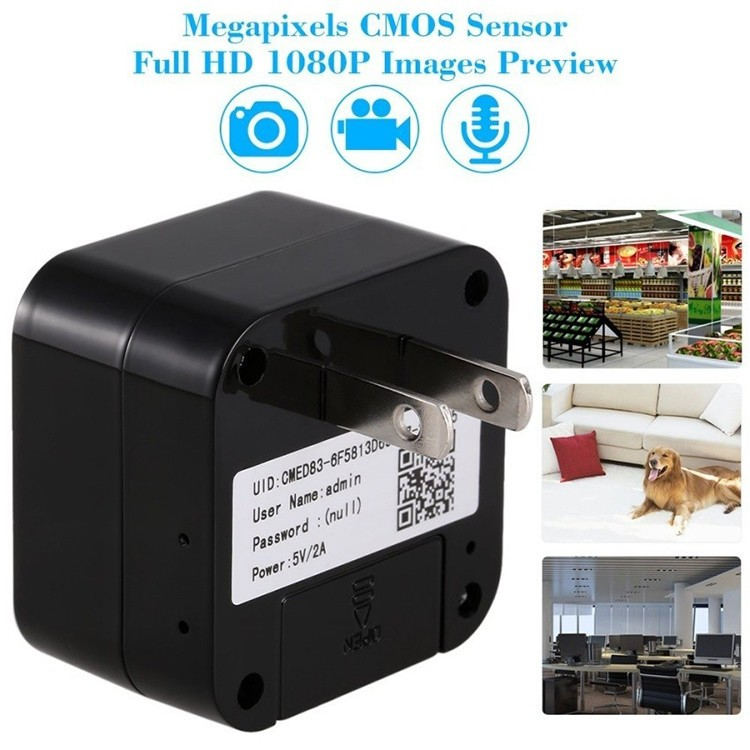 HD WIFI Charger Camera, 5.0M Camera 1080p, WIFI, P2PIP - 6